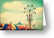 Fairgrounds Greeting Cards - Ferris Wheel Greeting Card by Kim Fearheiley