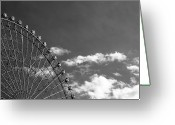 Arts Culture And Entertainment Greeting Cards - Ferris Wheel Greeting Card by Kiyoshi Noguchi