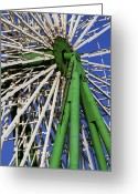 Diameter Greeting Cards - Ferris Wheel  Greeting Card by Stylianos Kleanthous