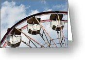 Ferris Wheel Greeting Cards - Ferris Wheel Greeting Card by Tara Romasanta