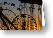 Ferris Wheels Greeting Cards - Ferris Wheels Greeting Card by Garry Gay