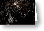 Explosives Greeting Cards - Festival Display  Greeting Card by Chris Berry