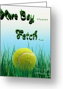 Throw Photo Greeting Cards - Fetch Greeting Card by Cheryl Young