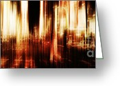 Layer Digital Art Greeting Cards - Fever Greeting Card by Andrew Paranavitana