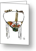 Metis Art Greeting Cards - Fever Greeting Card by Dan Daulby