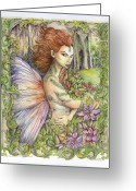 Fantasy Art Greeting Cards - Fiary Collection 1 Greeting Card by Morgan Fitzsimons