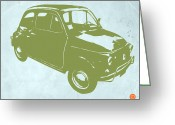 Funny Car Greeting Cards - Fiat 500 Greeting Card by Irina  March
