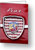 Classic Fiat Greeting Cards - Fiat Emblem 2 Greeting Card by Jill Reger
