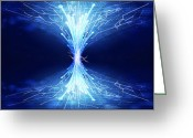 Cover Greeting Cards - Fiber Optics And Circuit Board Greeting Card by Setsiri Silapasuwanchai