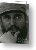 Charismatic Greeting Cards - Fidel Castro, Cuban Revolutionary Greeting Card by Photo Researchers