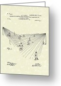 Baseball Artwork Greeting Cards - Field Lighting 1904 Patent Art Greeting Card by Prior Art Design
