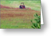 Kay Sawyer Greeting Cards - Field Maintenance Greeting Card by Kay Sawyer