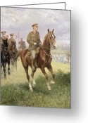Great Painting Greeting Cards - Field Marshal Haig Greeting Card by Jan van Chelminski