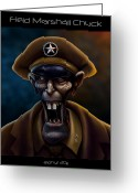 Wacom Tablet Greeting Cards - Field Marshall Chuck Greeting Card by Jephyr Art