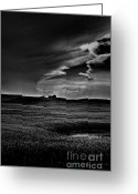 Drumheller Greeting Cards - Field of Dreams Greeting Card by Annie Lemay