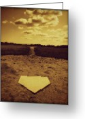 Homeplate Greeting Cards - Field of Dreams Greeting Card by Erika Hart