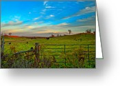 Fence Gate Greeting Cards - Field of Dreams Greeting Card by Steve Harrington