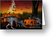 Frighten Greeting Cards - Field of Nightmares Greeting Card by Alexander Butler