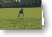 Athletic Digital Art Greeting Cards - Fielding 2 Greeting Card by Peter  McIntosh