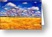 Flowers Greeting Cards - Fields of Gold Greeting Card by Johnathan Harris