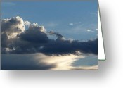 Cumulus Greeting Cards - Fierce Cloud Greeting Card by Jera Sky