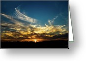 Christopher Holmes Photography Greeting Cards - Fiery Sunset Greeting Card by Christopher Holmes