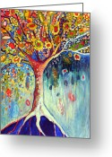 Klimt Greeting Cards - Fiesta Tree Greeting Card by Jennifer Lommers