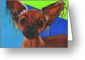 Debbie Brown Greeting Cards - FiFi Greeting Card by Debbie Brown