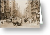 Store Fronts Greeting Cards - Fifth Avenue New York City 1907 Greeting Card by Padre Art
