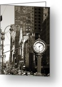 Fifth Greeting Cards - Fifth Avenue Greeting Card by RicardMN Photography
