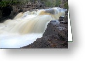 Northshore Greeting Cards - Fifth Falls Gooseberry River Greeting Card by Larry Ricker