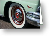 Fifties Automobile Greeting Cards - Fifties Ford Greeting Card by David Pettit