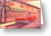 Miami Painting Greeting Cards - Fifty Nine Greeting Card by Robert Hooper