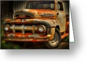 Antique Truck Greeting Cards - Fifty Two Ford Greeting Card by Thomas Young