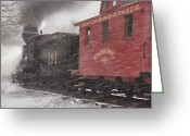 Rio Grande Greeting Cards - Fighting through the Winter Storm Greeting Card by Ken Smith