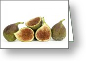 Tropical Fruits Greeting Cards - Figs Greeting Card by Bernard Jaubert
