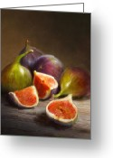 Featured Painting Greeting Cards - Figs Greeting Card by Robert Papp