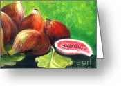Figs Greeting Cards - Figs Greeting Card by Therese Alcorn