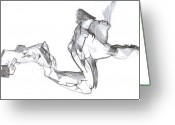Draftsman Greeting Cards - Figure Drawing 2010 1 Greeting Card by Michal Rezanka