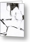 Draftsman Greeting Cards - Figure Drawing 2010 4 Greeting Card by Michal Rezanka