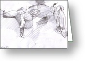 Draftsman Greeting Cards - Figure Drawing 5 Greeting Card by Michal Rezanka