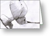 Draftsman Greeting Cards - Figure Drawing 6 Greeting Card by Michal Rezanka