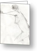Draftsman Greeting Cards - Figure Drawing 7 Greeting Card by Michal Rezanka