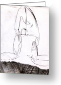 Draftsman Greeting Cards - Figure Drawing 8 Greeting Card by Michal Rezanka