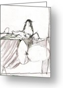 Draftsman Greeting Cards - Figure drawing 9 Greeting Card by Michal Rezanka