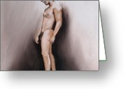Matthew Lake Greeting Cards - Figure I Greeting Card by Matthew Lake