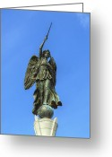 Regiment Greeting Cards - Figure of Winged Victory at Gettysburg Greeting Card by Randy Steele