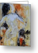  Originals Greeting Cards - Figure Study 023 Greeting Card by Donna Frost