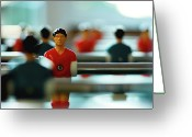 Soccer Greeting Cards - Figurine Of Football Player Greeting Card by D.Reichardt