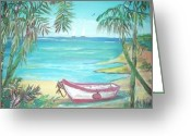 Teresa Dominici Greeting Cards - Fiji Island Greeting Card by Teresa Dominici